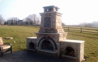 Fireplace Outside in backyard