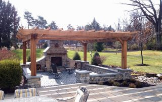 Pergola and Fire Place
